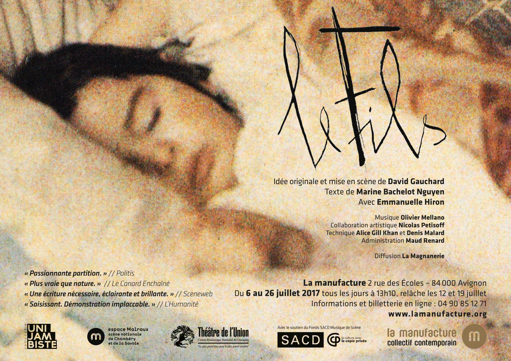 Le Fils_Affiche Avignon.indd